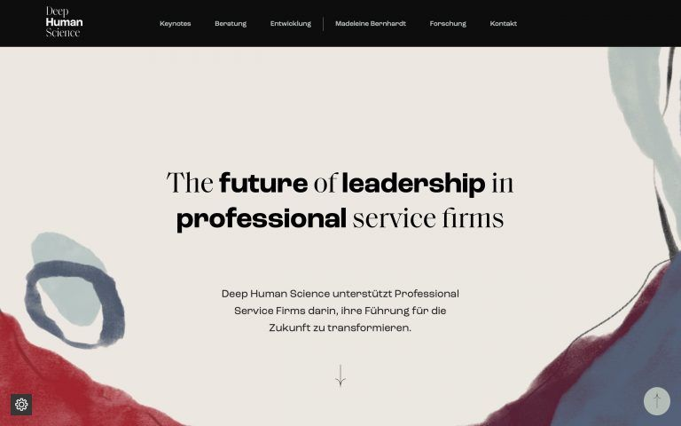 Deep Human Science - Professional Website